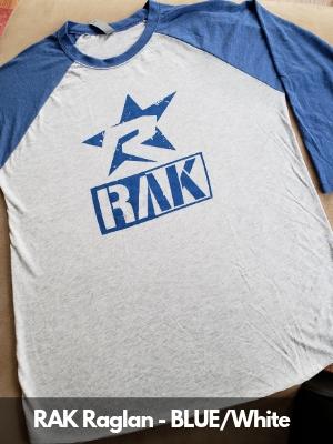 RAK Raglan - BLK_White