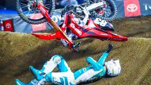image of a supercross crash